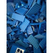 1kg Kiloware Platten und Sonderteile Blau