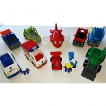 Lego Duplo Fahrzeuge Set Groß LKW Feuerwehr Polizei Bagger Boote Flugzeug